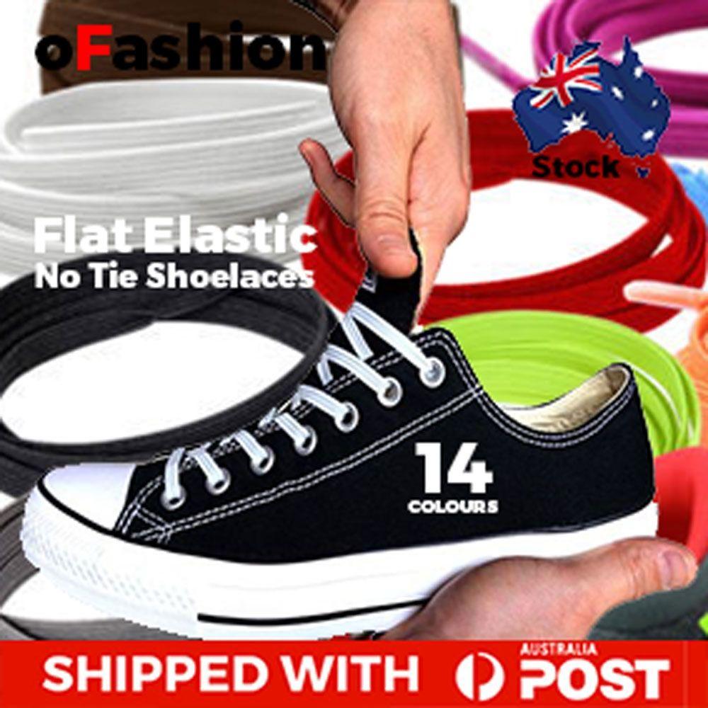 Flat Elastic Loop No Tie Shoelaces Purple