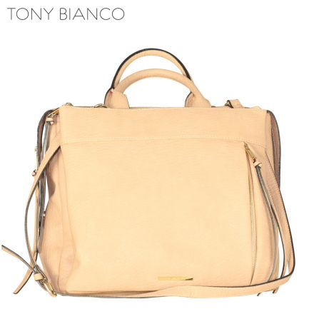 Tony Bianco - Hidden Agenda Georgie Tote - Sand - Front