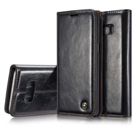 Premium Black Leather Case Wallet - Apple iPhone XS CaseMe