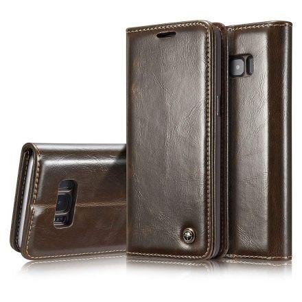 Premium Brown Leather Case Wallet - Apple iPhone XS CaseMe