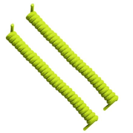 Neon Yellow Curly Shoelace