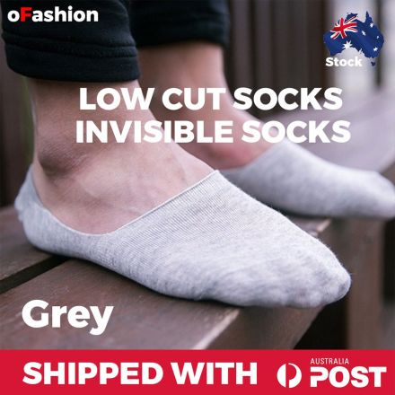 Low Cut Invisible Ankle Socks Grey