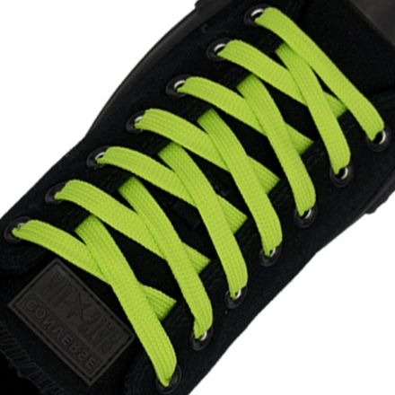 Polyester Shoelace Flat - Fluro Green Length 120cm Width 1cm