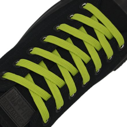 Polyester Shoelace Flat - Fluro Yellow Length 120cm Width 1cm