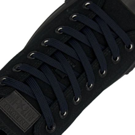 Polyester Shoelace Flat - Navy Blue Length 120cm Width 1cm