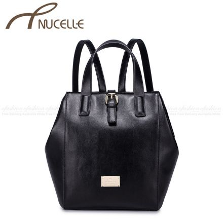 Black multifunctional Backpack - Nucelle Handbags - Front
