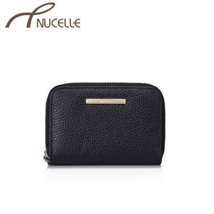 Black Card Wallet - Nucelle Purse - Front