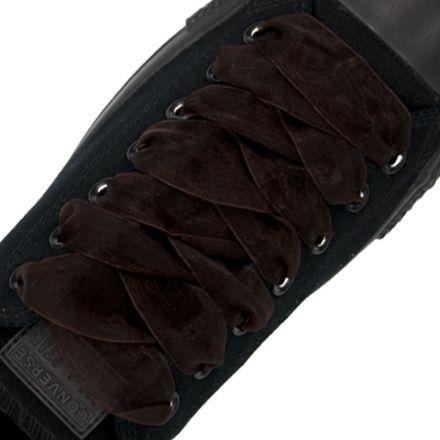 Organza Shoelaces - Dark Brown 120cm Length 2.5cm Width Flat