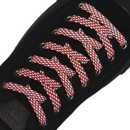 Reflective Shoelaces Flat Red 120 cm