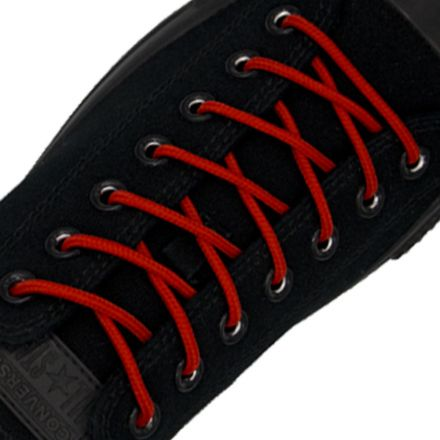 Polyester Shoelace Round - Red Length 120cm Diameter Ø4mm
