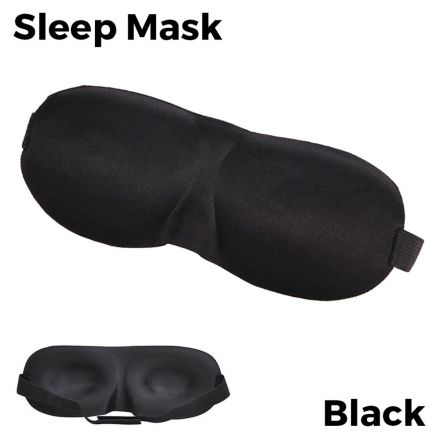 Sleeping Eye Mask 3D - Black Unisex