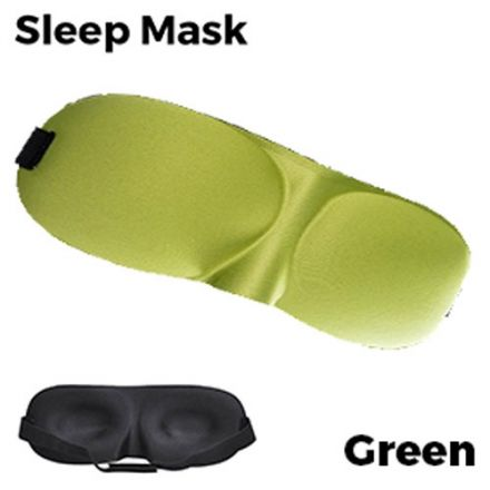 Sleeping Eye Mask 3D - Green Unisex