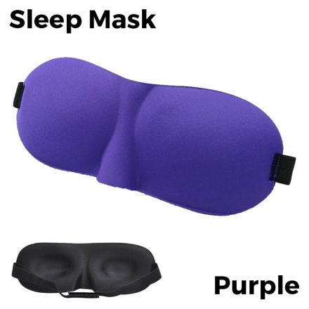 Sleeping Eye Mask 3D - Purple Unisex