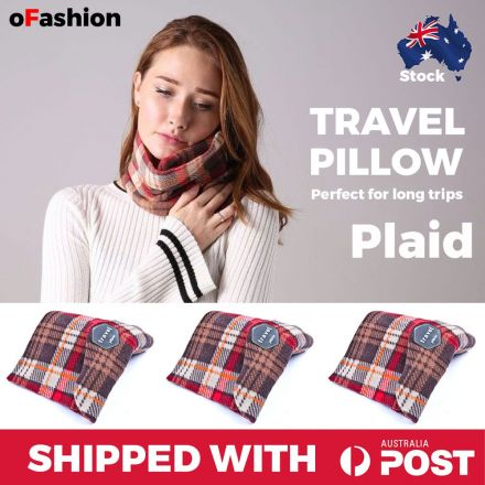 Travel Pillow Plaid