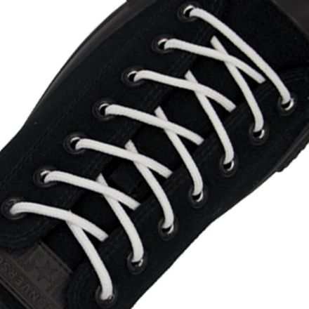 Polyester Shoelace Round - White Length 120cm Diameter Ø4mm