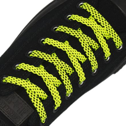 Spotted Shoelace - Yellow with Black Spots Flat Length 120 cm Width 1cm
