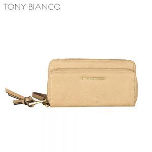 Tony Bianco - Hazy Shade Of Winter Peta Dbl Zip Wallet - Nude - Front