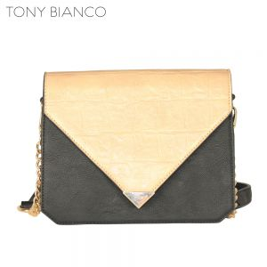 Tony Bianco - Excess Luggage Coco Clutch - Sand / Black - Front