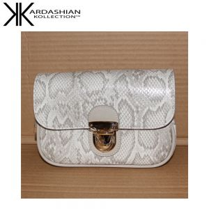 White Snake Sling Bag - Kardashian Kollection Handbags - Main Front