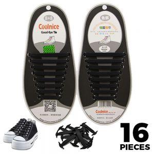 Black Adults Silicone - No Tie Shoelaces