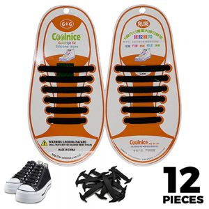 Black Kids Silicone - No Tie Shoelaces