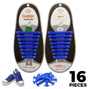Blue Adults Silicone - No Tie Shoelaces