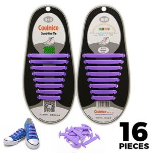 Purple Adults Silicone - No Tie Shoelaces