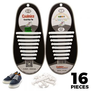 White Adults Silicone - No Tie Shoelaces