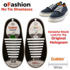 No Tie Shoelaces Silicone White 16 Pieces