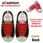 No Tie Shoelaces Silicone Red 16 Pieces - Main