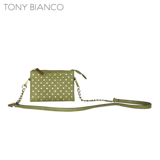 Tony Bianco - Hellbound Heart Johnny Sling Wallet - Khaki - Front