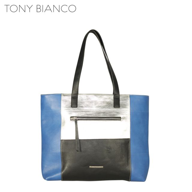 Tony Bianco - Square One Xena Tote - Cobalt / Multy - Front