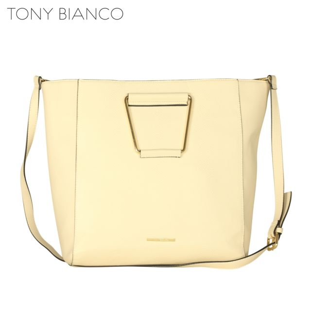 Tony Bianco - Lost Highway Chloe Met Handle Tote - Beige - Front