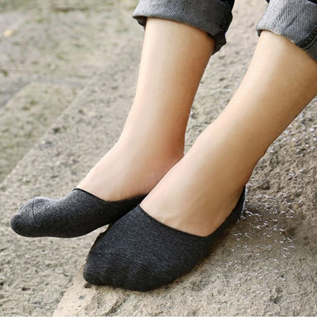 Low Cut Invisible Ankle Socks Dark Grey - 5 Pairs