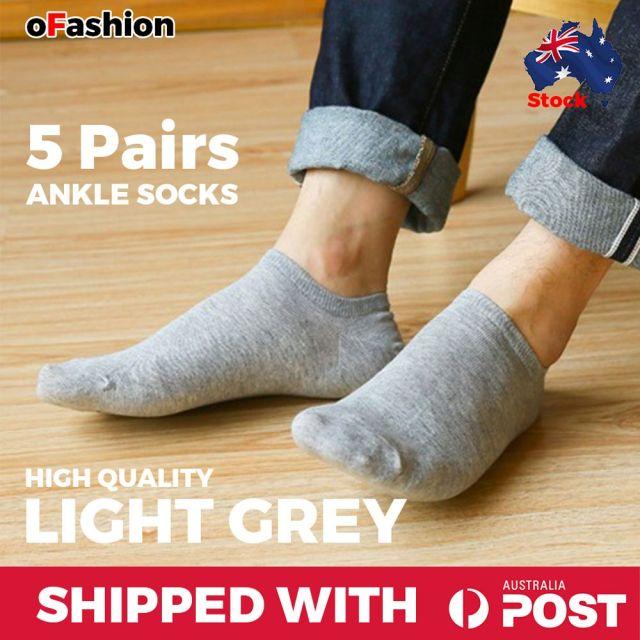 Ankle Socks Grey Unisex - 5 Pairs