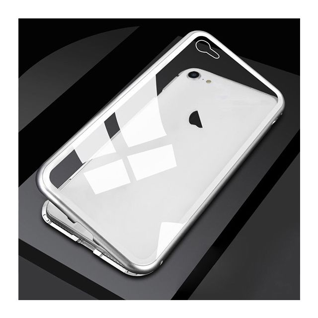 Apple iPhone XS Magnetic Metal Frame Glass Case - White