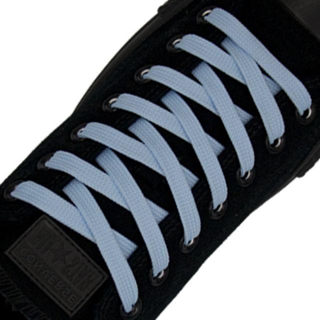 Polyester Shoelace Flat - Sky Blue Length 80cm Width 1cm