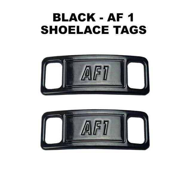 AF 1 Black Shoelace Charm Buckle