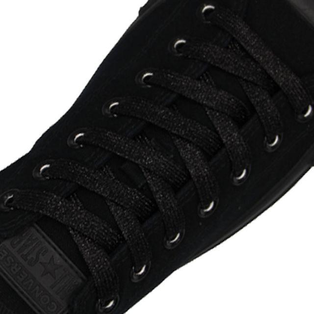 Glitter Shoelace - Black 50cm Length 10mm Width