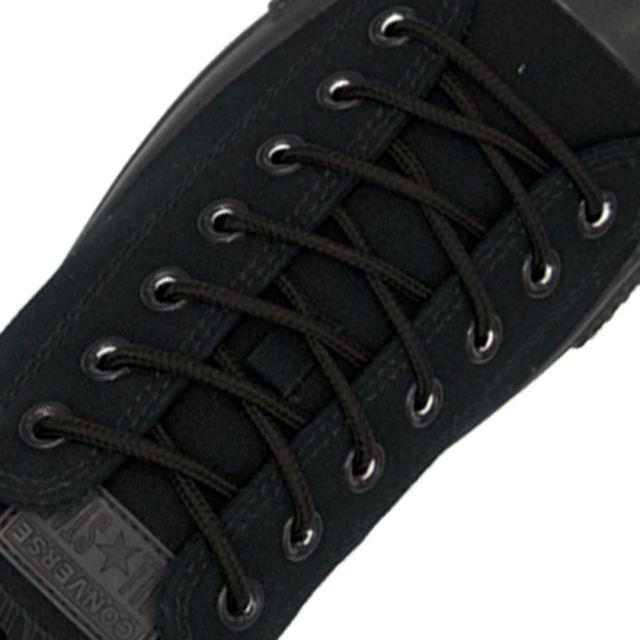 Polyester Shoelace Round - Black Length 80cm Diameter 4mm