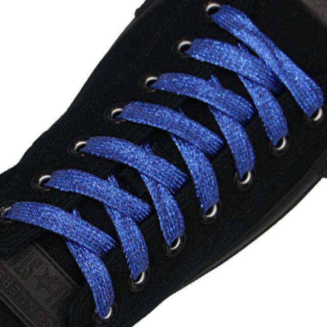 Glitter Shoelace - Blue 50cm Length 10mm Width