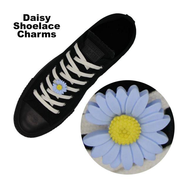 Blue Daisy Shoelace Charm