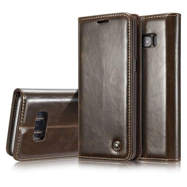 Premium Brown Leather Case Wallet - Apple iPhone XS Max CaseMe