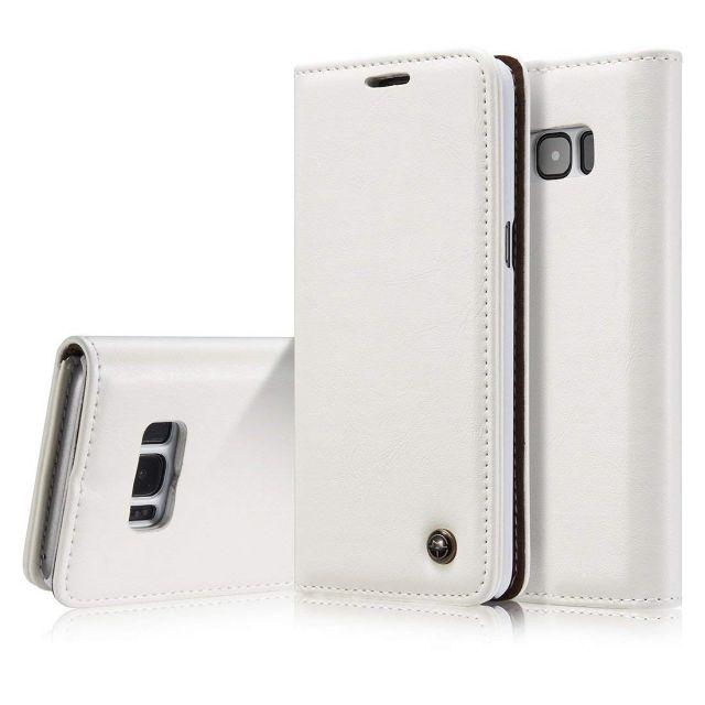 Premium White Leather Case Wallet - Apple iPhone XS CaseMe