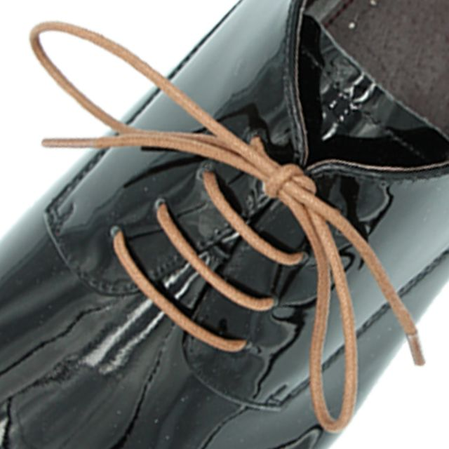 Waxed Cotton Dress Shoelaces - Brown 60cm Length 2mm Round