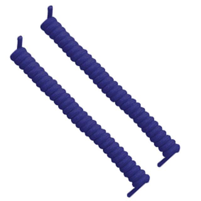 Curly Elastic No Tie Shoelace Royal Blue