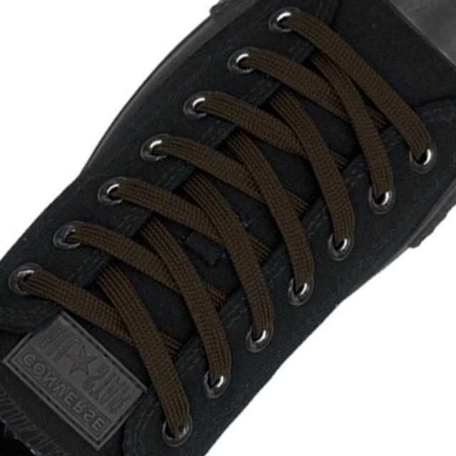 Polyester Shoelace Flat - Dark Brown Length 80cm Width 1cm