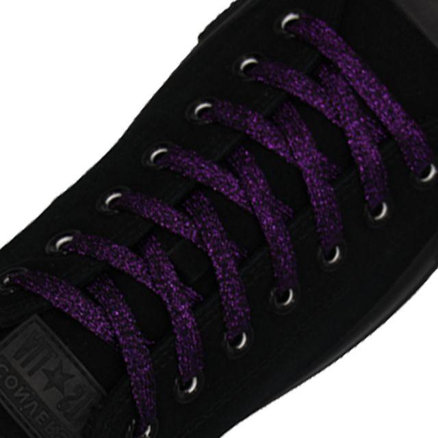 Glitter Shoelace - Dark Purple 50cm Length 10mm Width