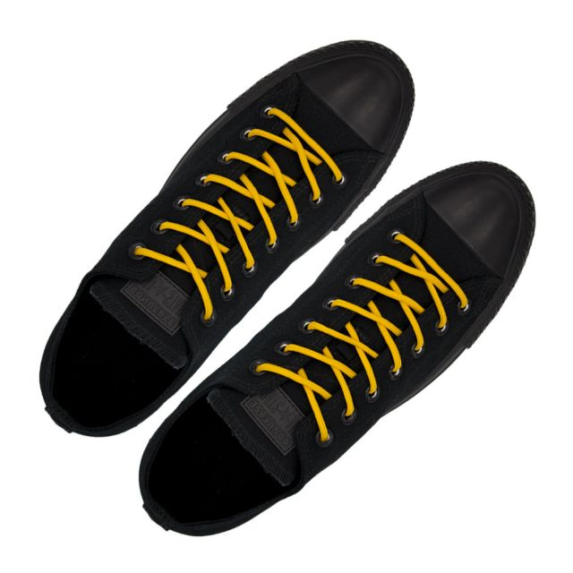 Polyester Shoelace Round - Dark Yellow Length 120cm Diameter Ø4mm