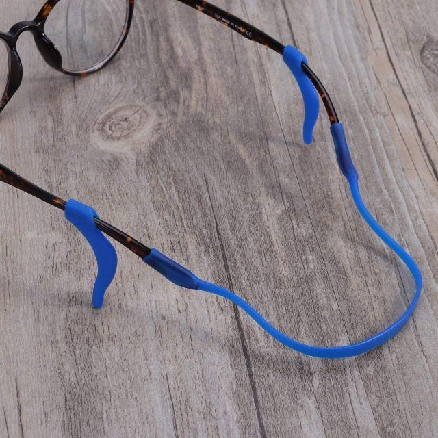 Kids Silicone Ear Hooks Head Band Strap Anti-Slip Grip Blue